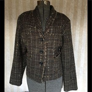 Requirements Jackets & Coats - Requirements tweed blazer.