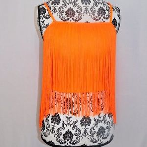 TOPSHOP Women's Tank Neón Orange US 6 UK10