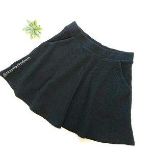 TOPSHOP Black Mini Skirt Size 6
