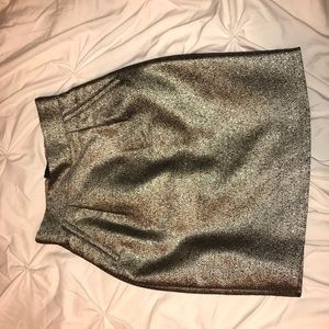 Gold and Black H&M High Waist Pencil Skirt Size 2