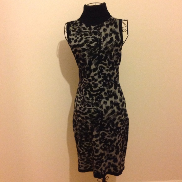 2d91aa3bb56c Calvin Klein Dresses   Skirts - Calvin Klein Animal Print Sweater Dress NWOT