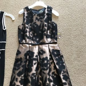 Holiday dress black and gold size 8