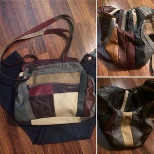 Weekend Only Sale! Vintage Patchwork Leather Bag