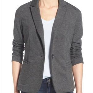 Nordstrom Olivia Moon Knit Blazer in Charcoal Grey