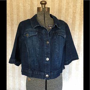 Lane Bryant Jackets & Coats - Lane Bryant cropped denim jacket.
