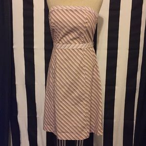 New York & company strapless striped dress size 8