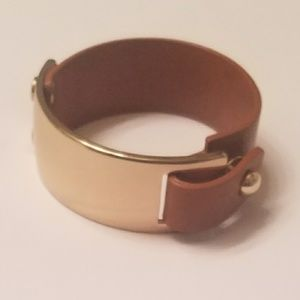 Banana Republic Gold/Leather Bracelet