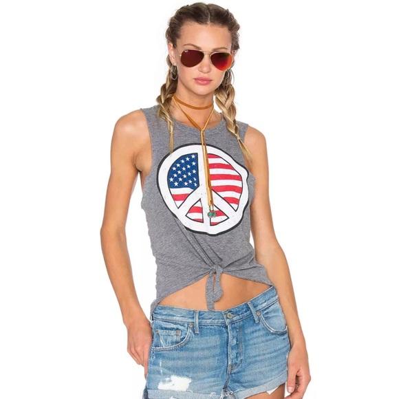 Americana Women/'s White T-Shirt Plus Sizes USA Vintage Flag Peace
