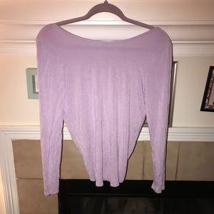 Tobi backless violet long sleeve top