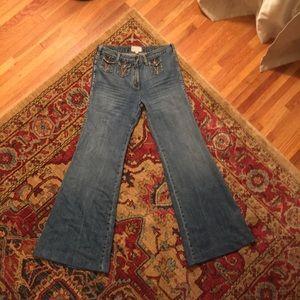 Current/Elliott Mini Pocket Wideleg Mid Rise Jean
