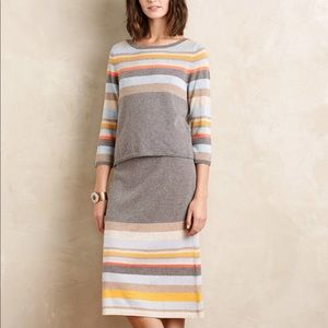 Anthropologie Moth Two Piece Sweater & Midi Skirt