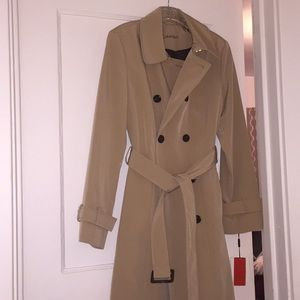 Calvin Klein- Long, Tie Waist, Overcoat