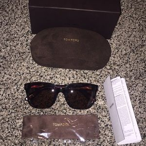 Tom Ford Havana Campbell sunglasses NEW