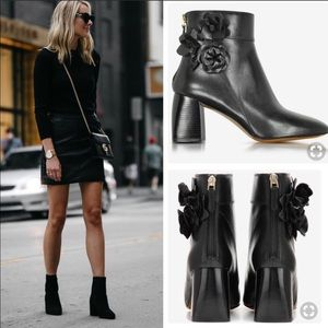 Tory Burch // Blossom Leather Bootie