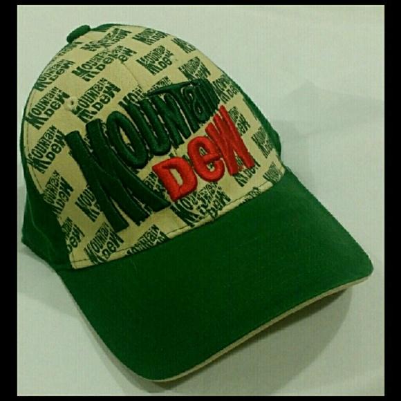 99f404e96 NWT MOUNTAIN DEW RETRO LOOK BASEBALL CAP HAT HTF NWT