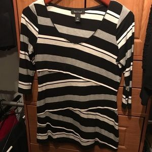 WHBM striped layered tunic
