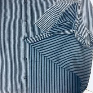Zegna City Button Down Shirt Striped Like New