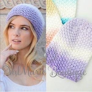 Purple ombré knit beanie - stocking stuffer