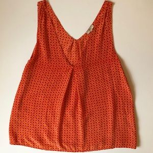 Joie Orange Silk Tank Top