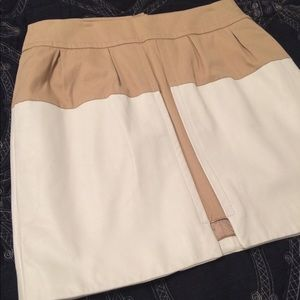 Leifsdottir color block mini skirt