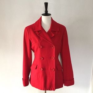 [Steve & Barry's] double breasted red pea coat