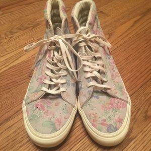 154d23fe95 Vans Shoes - Vans Womens SK8 Hi Slim Suede Floral Marshmallow