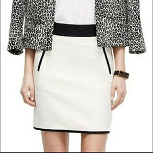 Ann Taylor | Quilted Black & Cream Skirt