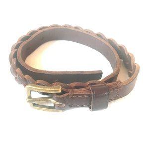 Woven leather Coach bracelet