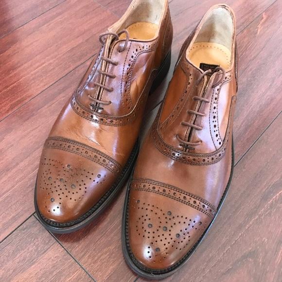 67212dc0d7acf Leather Wingtip Oxford Shoes 10M Men's