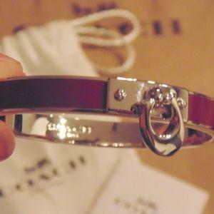 100% AUTHENTIC Coach Silver/Purple 'C' Bracelet