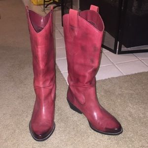 Franco Sarto  Size 8 SOFT Leather western boots