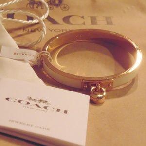 100% AUTHENTIC Coach White/Gold 'C' Bracelet
