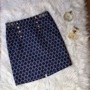 antonio melani Navy Pattern Pencil Skirt