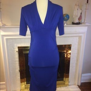Nicole Miller Womens Royal blue stretch Party