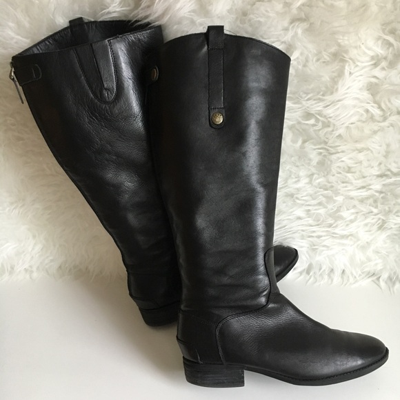 9ef688e2d Sam Edelman Penny 2 Wide Calf Leather Riding Boot.  M 5a2b49d12ba50a28f404da1f