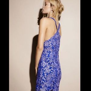 Free People Special Edition Metallic Lace Dress 6