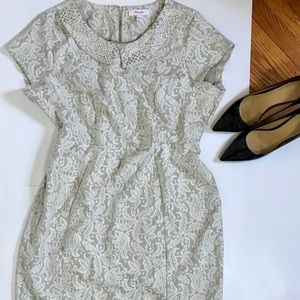 SIMPLY BE WHITE LACE DRESS WITH BEADED COLLAR 18