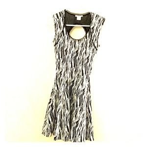 Bar III Textured Fit and Flare Dress