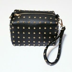 Handbags - Black Square Studded Bag