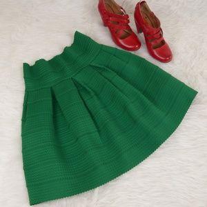 Girls from Savoy Green Ponte Belle Skirt