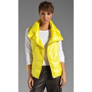 Vince Bright Yellow Goose Down Filled Puffer Vest