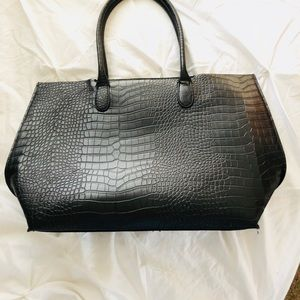NWOT LARGE BLACK TEXTILE H&M PURSE