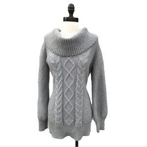Bcbgmaxazria cowl Neck Cable Knit Sweater Small