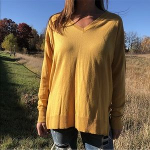 The Limited yellow sweater medium
