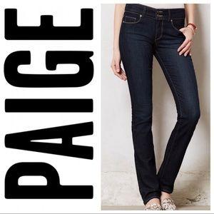 Paige Hidden Hills straight cut blue jeans