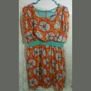 Esley size L Dress Tribal Aztec Print