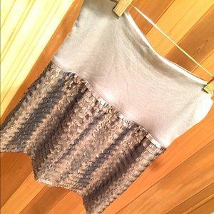 Bebe Silver sequin mini skirt
