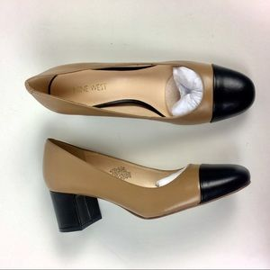 NINE WEST FLOREO 7.5 M Leather Comfortable Tan