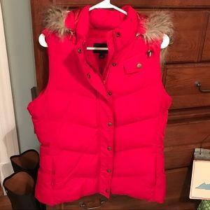 Banana Republic Red Vest - excellent condition!