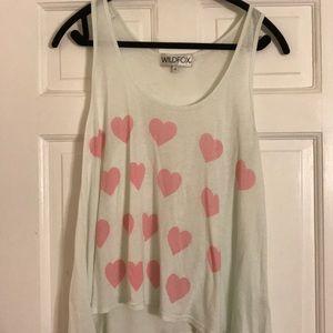 Wildfox heart tank top! Size s!!!